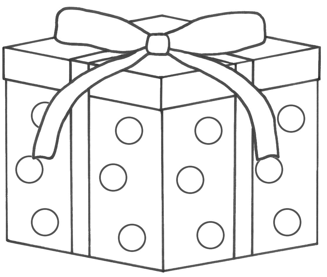 birthday present coloring page ; free-printable-christmas-present-coloring-pages