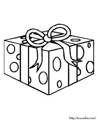 birthday present coloring page ; iezombiecolorfood24t
