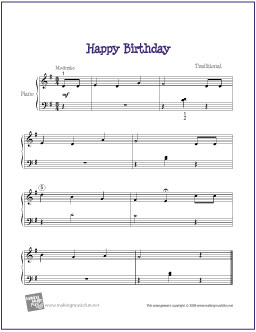 birthday sheet ; happy-birthday-easy-piano
