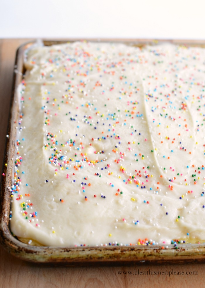 birthday sheet cake recipe ; vanilla-sheet-cake2-