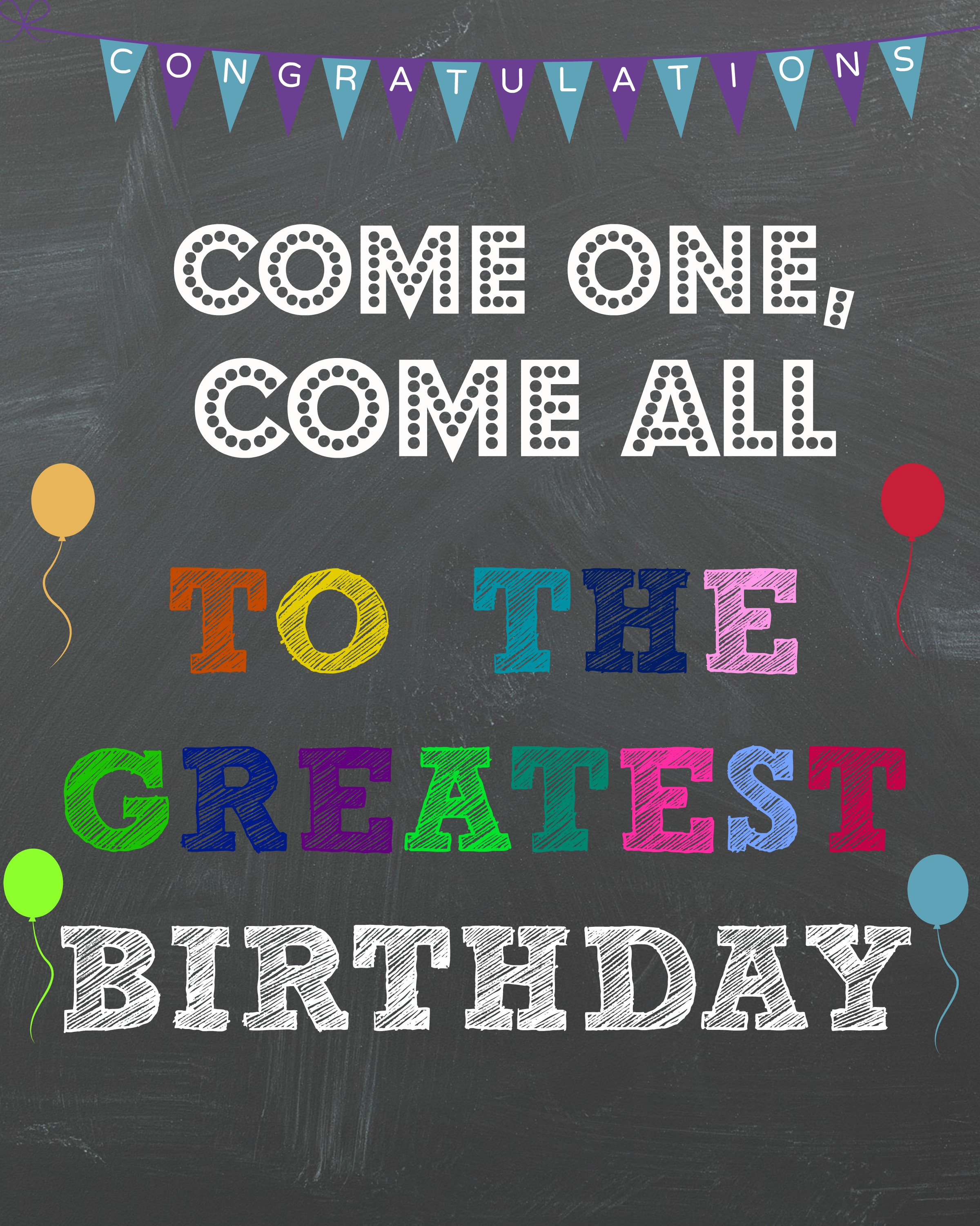birthday sign ideas ; circus-birthday-sign-com-one-come-all-to-the-greatest-birthday