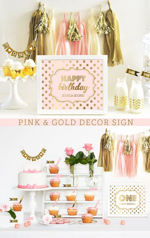 birthday sign ideas ; pink-and-gold-sign-happy-birthday-sign-pink-and-gold-birthday-decor-ideas-pink-birthday-party-eb3058fy-printed-sign-only