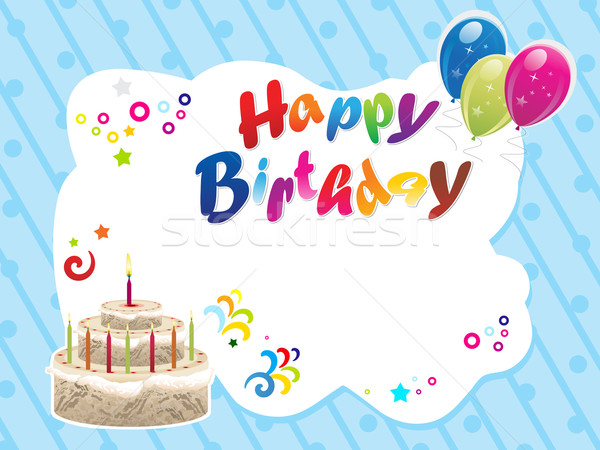 birthday sign template ; 1838287_stock-photo-abstract-happy-birthday-template