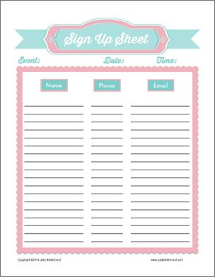birthday sign up sheet template ; printable-sign-up-sheet-template_6205