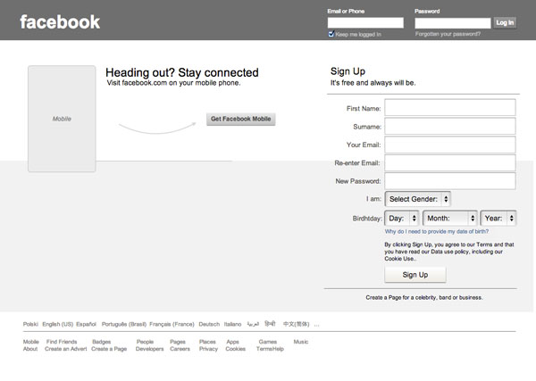 birthday sign ups ; Facebook-Sign-Up-Form-Wireframe-Template