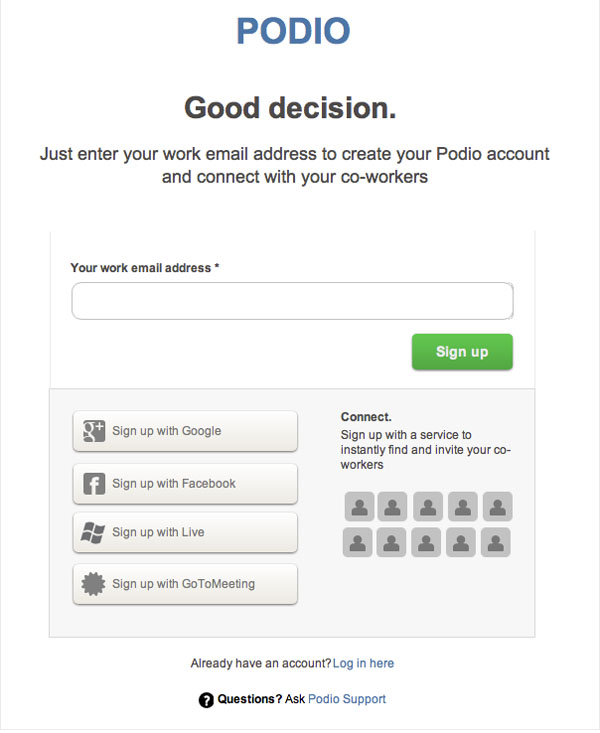 birthday sign ups ; Podio-Sign-Up-Form-Wireframe-Template