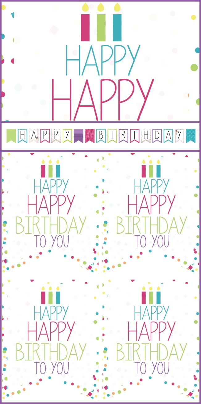 birthday sign with tags ; Birthday-printable-sign-banner-and-tags-for-girls-birthday-boys-also-available