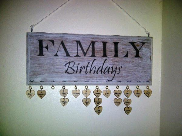 birthday sign with tags ; family-birthdays