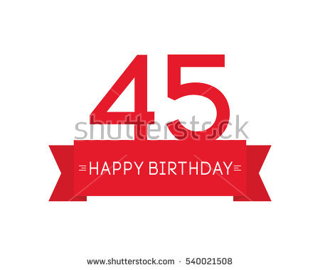 birthday sign with tags ; stock-vector-happy-birthday-to-forty-five-year-label-sign-icon-ribbon-element-greeting-cards-banners-and-tags-540021508