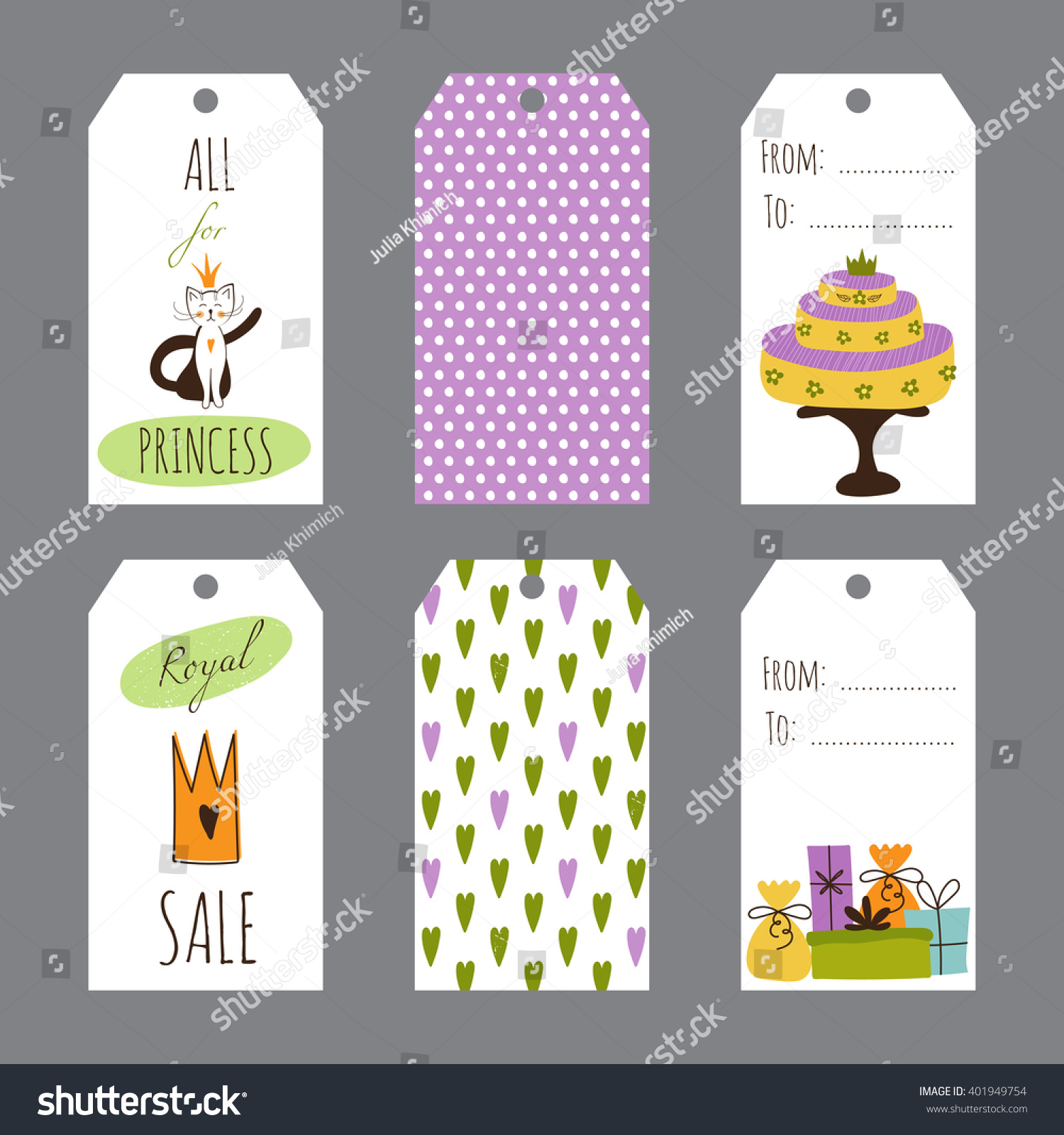 birthday souvenir tags template ; stock-vector-vector-princess-party-set-of-tag-templates-cute-collection-for-birthday-greeting-cards-brochures-401949754