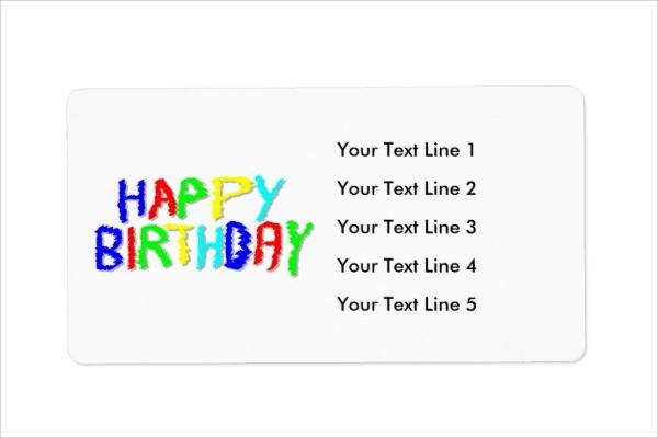 birthday tag template ; Birthday-Shipping-Label-Template