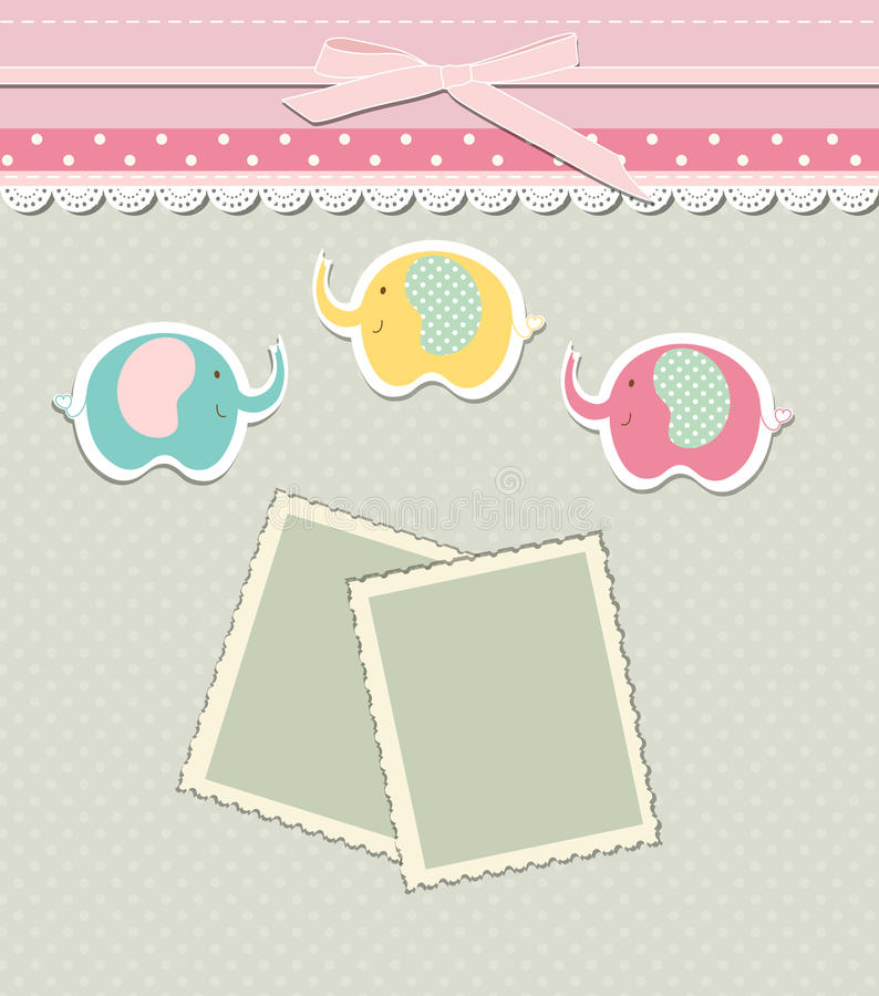 birthday tag template ; romantic-scrap-booking-template-invitation-greeting-baby-shower-card-happy-birthday-label-postcard-frame-child-album-vector-76278445