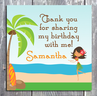 birthday thank you tags template ; luauSmallTag