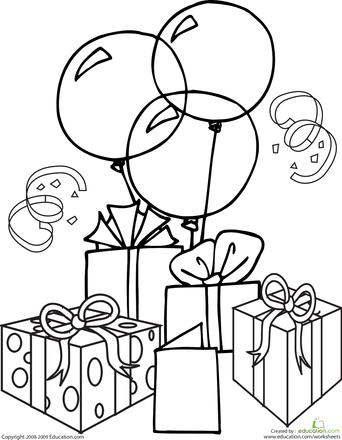 birthday themed coloring pages ; 0729eca2712e82778f8c1838f63b4372
