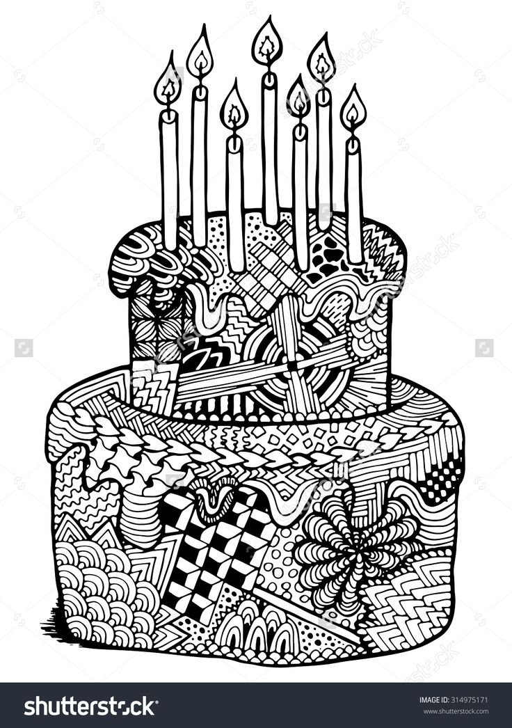 birthday themed coloring pages ; 97282c119535950de4f44e242fec2d17--zentangle-birthday-card-ideas-happy-birthday-dad