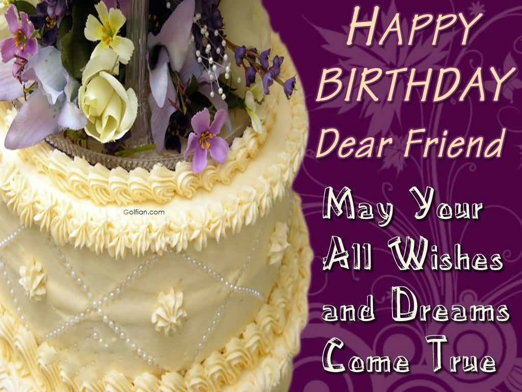 birthday wallpaper for friend ; Happy-Birthday-Wishes-For-Friend-Wallpaper-Cake