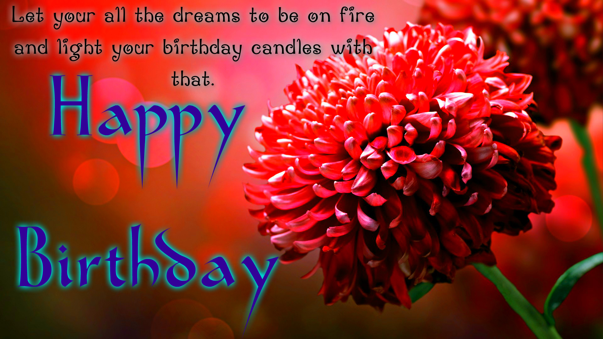 birthday wallpaper with quotes ; Happy-Birthday-Flowers-2