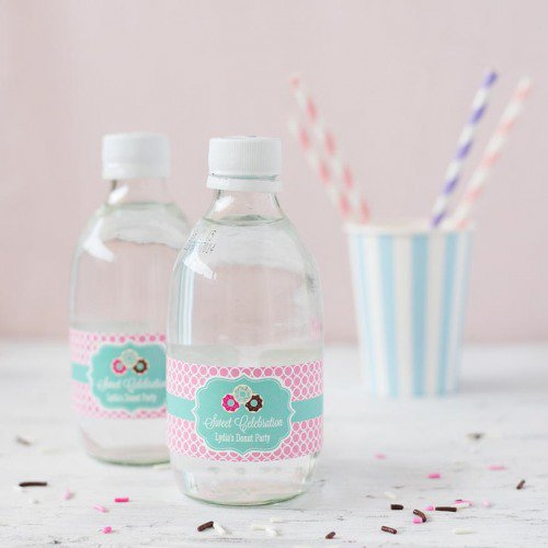 birthday water bottle labels ; 126649-500