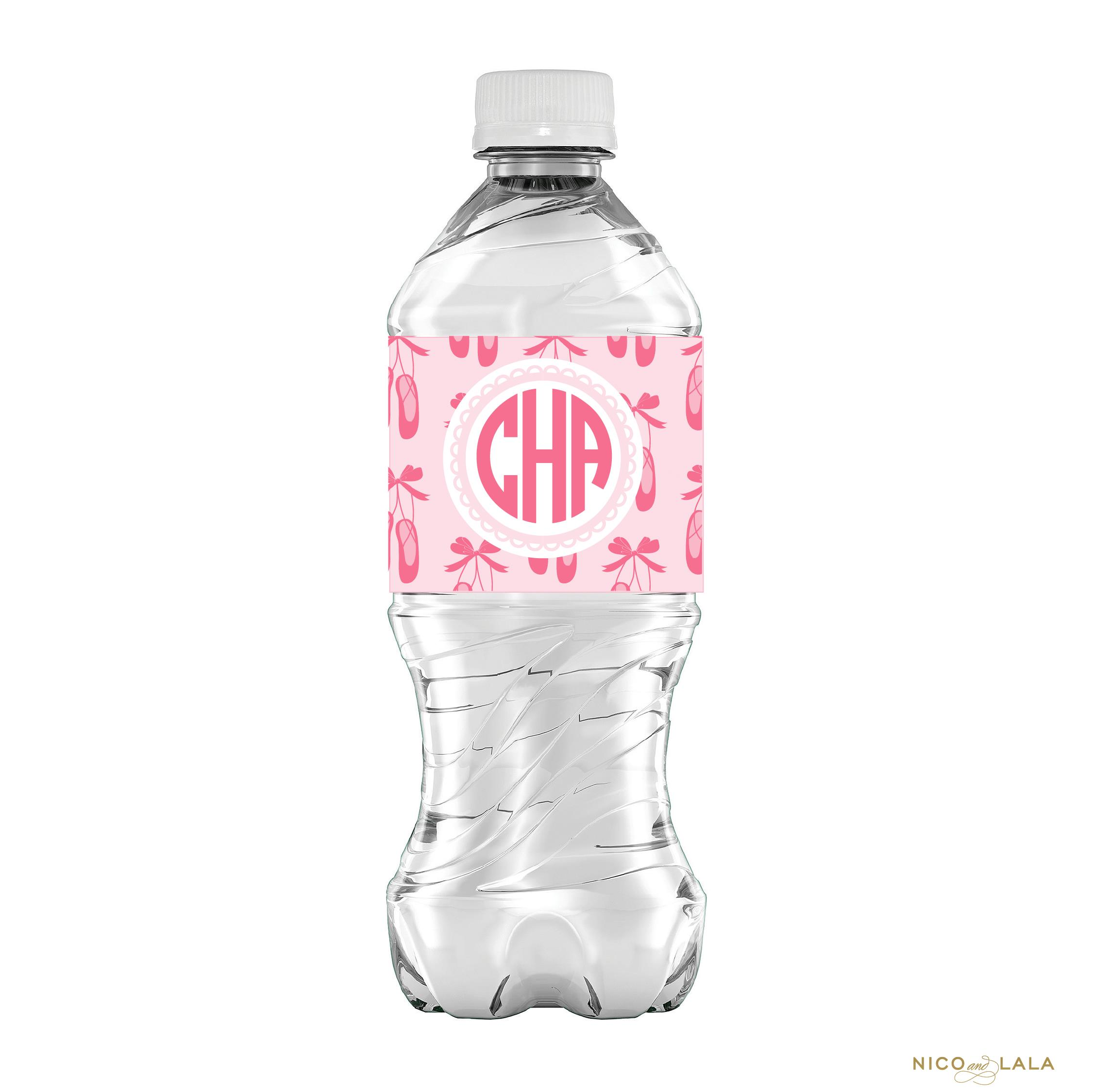 birthday water bottle labels ; Ballet-Birthday-Water-Bottle-Labels