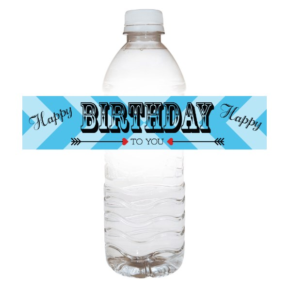 birthday water bottle labels ; Love%2520Arrow%2520Birthday%2520Water%2520Bottle%2520Labels%2520Blue