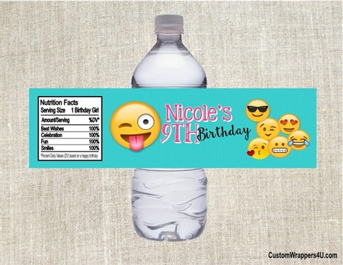 birthday water bottle labels ; WBL0045-2