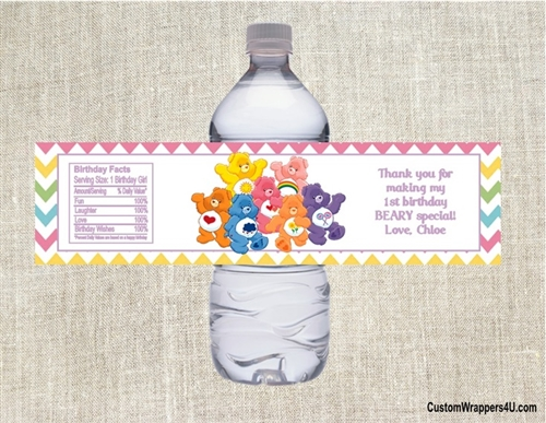birthday water bottle labels ; WBL9008-2