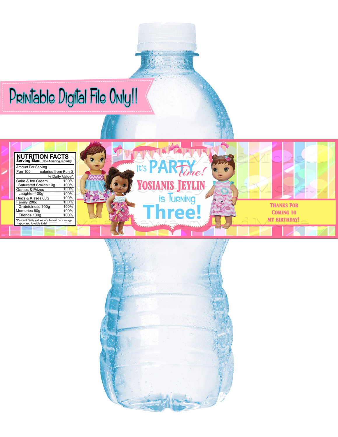 birthday water bottle labels ; d2532c7c0c6ae1867a28572c4428cb15