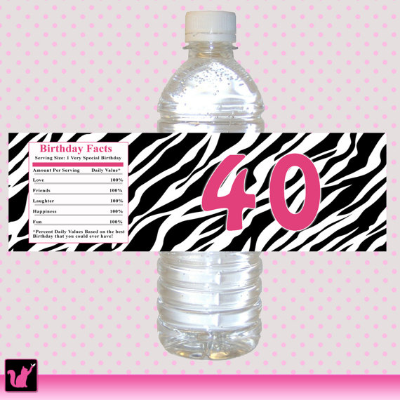 birthday water bottle labels ; e1408cc85c2b60b58550f4936a0f5b37
