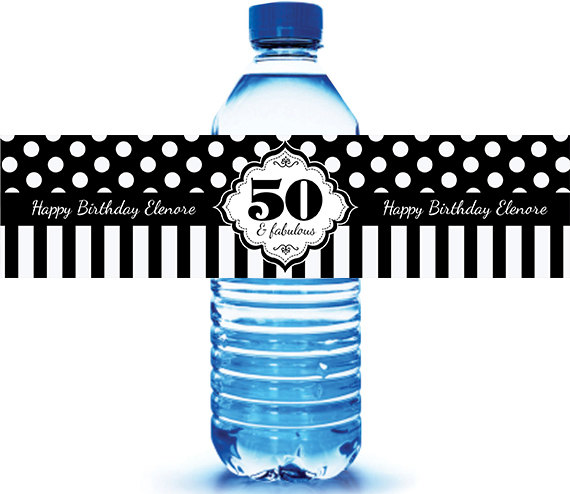 birthday water bottle labels ; il_570xN