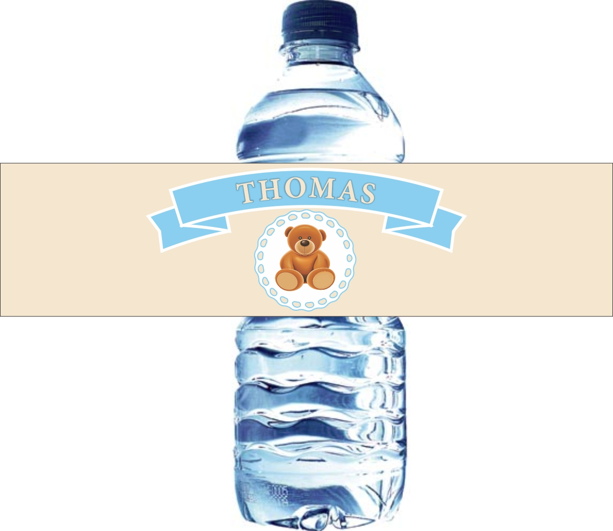 birthday water bottle labels ; kbd-100