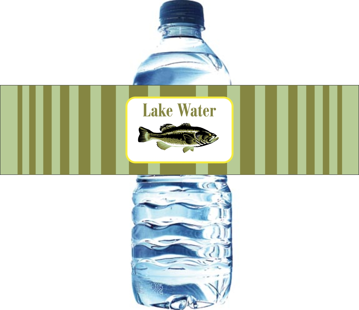 birthday water bottle labels ; lakewater