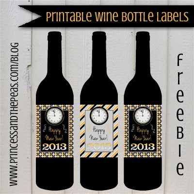 birthday wine bottle labels ; free-new-years-eve-wine-bottle-lables
