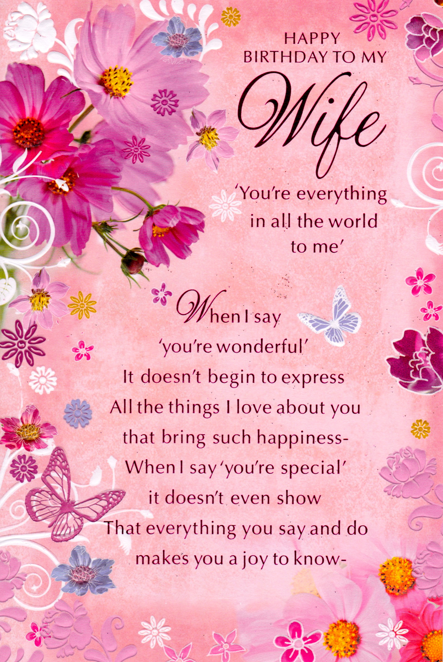 birthday wish for wife poem ; scan-1447-pink-wth-flowers-and-butterfly-design-poem-words-romantic-and-innovative-creation-graphics-happy-birthday-cards-for-wife