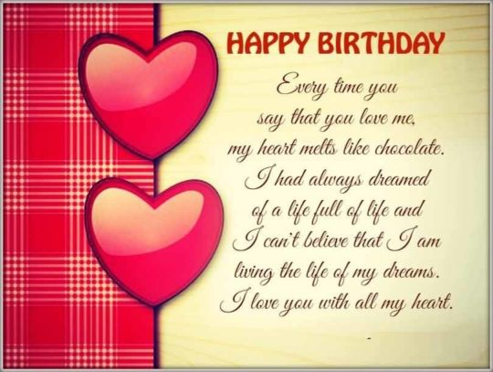 birthday wish message for girlfriend ; Love-Birthday-Wish-Message-For-Girlfriend-540x407