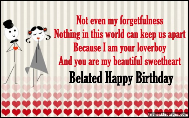 birthday wish message for girlfriend ; Romantic-belated-birthday-card-message-to-girlfriend-from-boyfriend