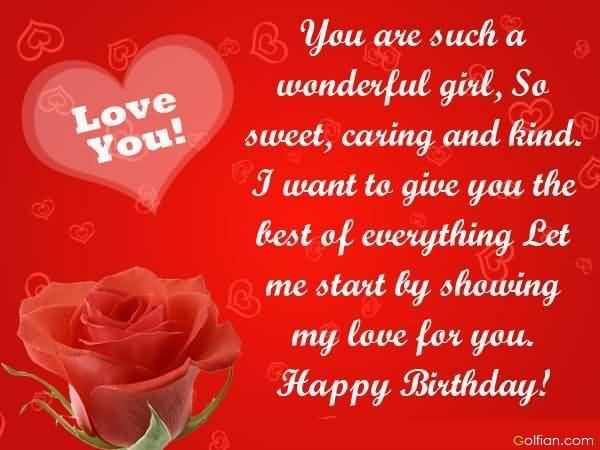 birthday wish message for girlfriend ; Sweet-Romantic-Red-Rose-Birthday-Wishes-For-Girlfriend