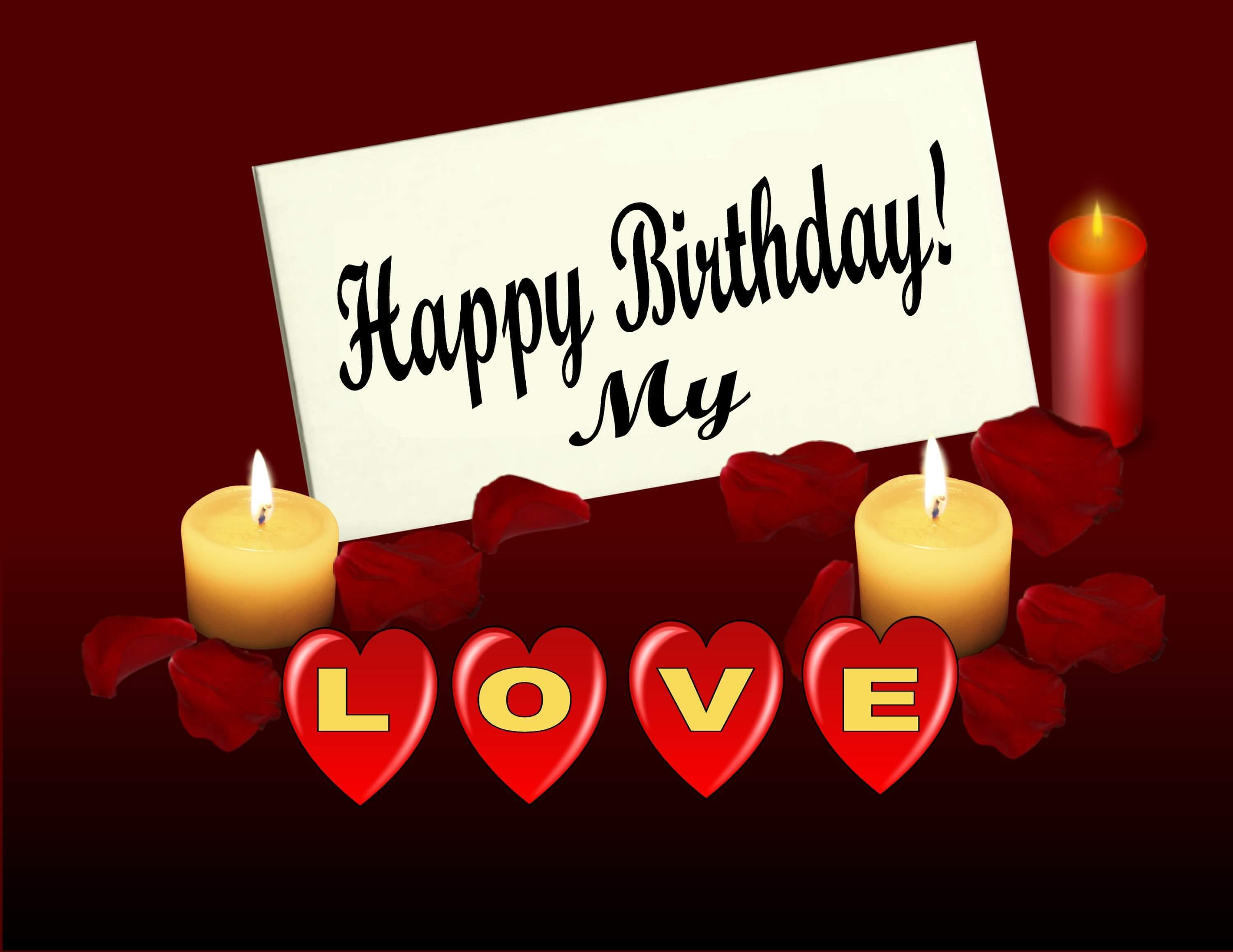 birthday wish message for girlfriend ; Wonderful-Red-Heart-Birthday-Greetings-Message-For-Sweet-Girlfriend-Images