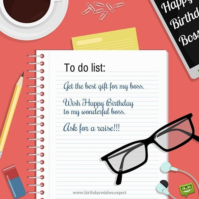 birthday wish message for my boss ; Funny-birthday-image-for-boss-with-to-do-list