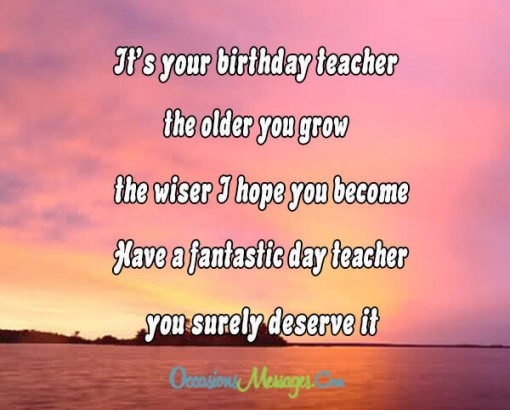 birthday wish message for teacher ; 2641991b3501224e7038f060c0542cbb
