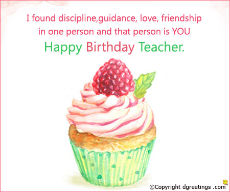 birthday wish message for teacher ; that-person-is-you