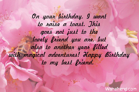 birthday wish message to best friend ; 1d60944b0b633905855d790cf338b2ae