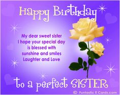 birthday wish message to sister ; 0a6a37baa383dc43aab01267ff4a4fdb