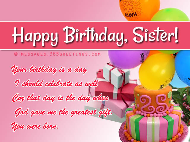 birthday wish message to sister ; birthday-wishes-for-sister1