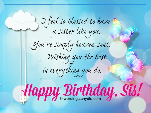 birthday wish message to sister ; sister-birthday-wishes