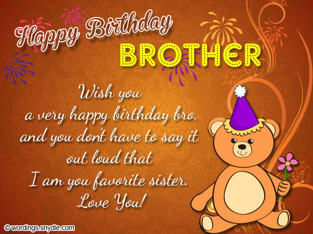 birthday wish messages for sister ; birthday-greetings-for-brother