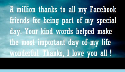 birthday wish thank you message facebook ; 12919401