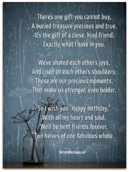 birthday wish to a best friend poem ; sentimental-birthday-poems4A