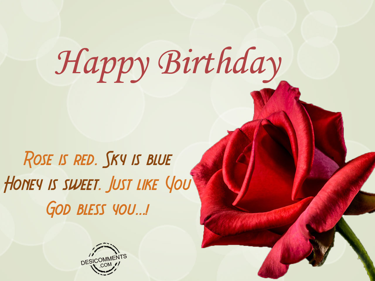 birthday wish to husband message ; Rose-is-red-sky-is-blue