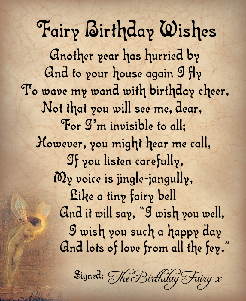 birthday wishes and poems ; fairy-birthday-wishes-poem