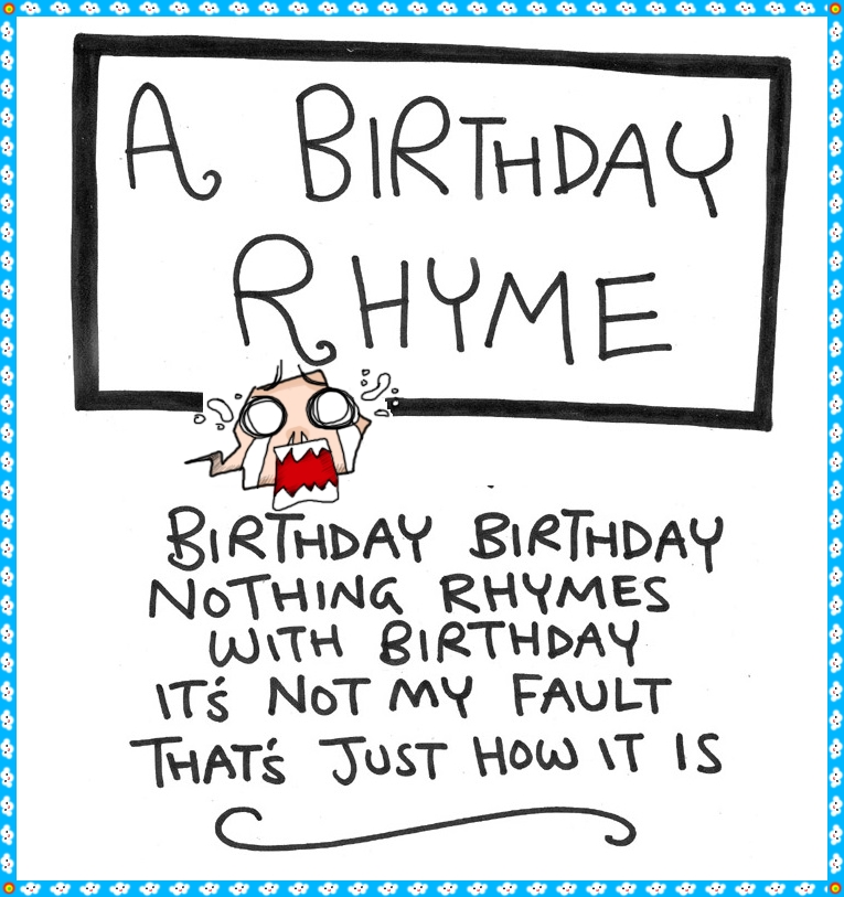 birthday wishes and poems ; funny-happy-birthday-rhyme